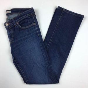 J Brand Jenas Cigarette Leg Dark Wash Denim Pants